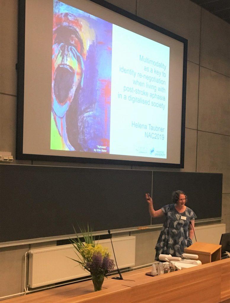 Helena Taubner föreläser om sin avhandling