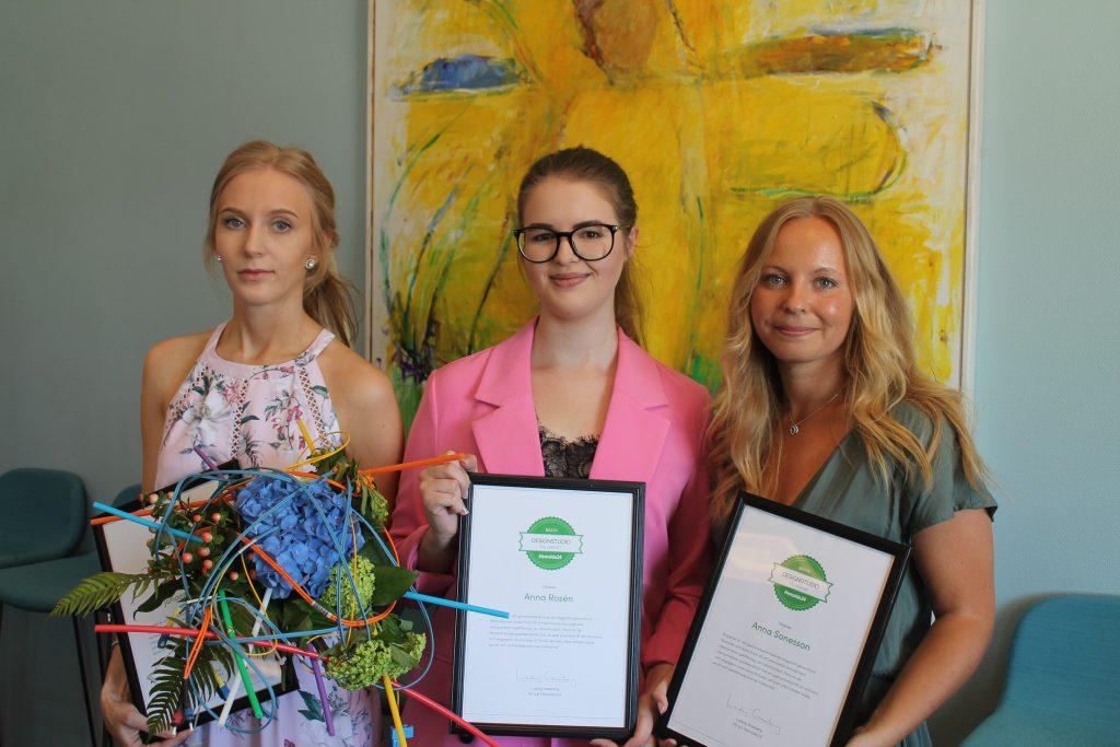Anna Sonesson, Anna Rosén, Johanna Levall