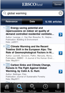 EBSCOhost iphone-App
